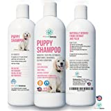 PET CARE Sciences Puppy Shampoo Gentle Sensitive Tearless - 96% Naturally Derived Coconut Oil, Oatmeal, Aloe & Palm. Made in USA.