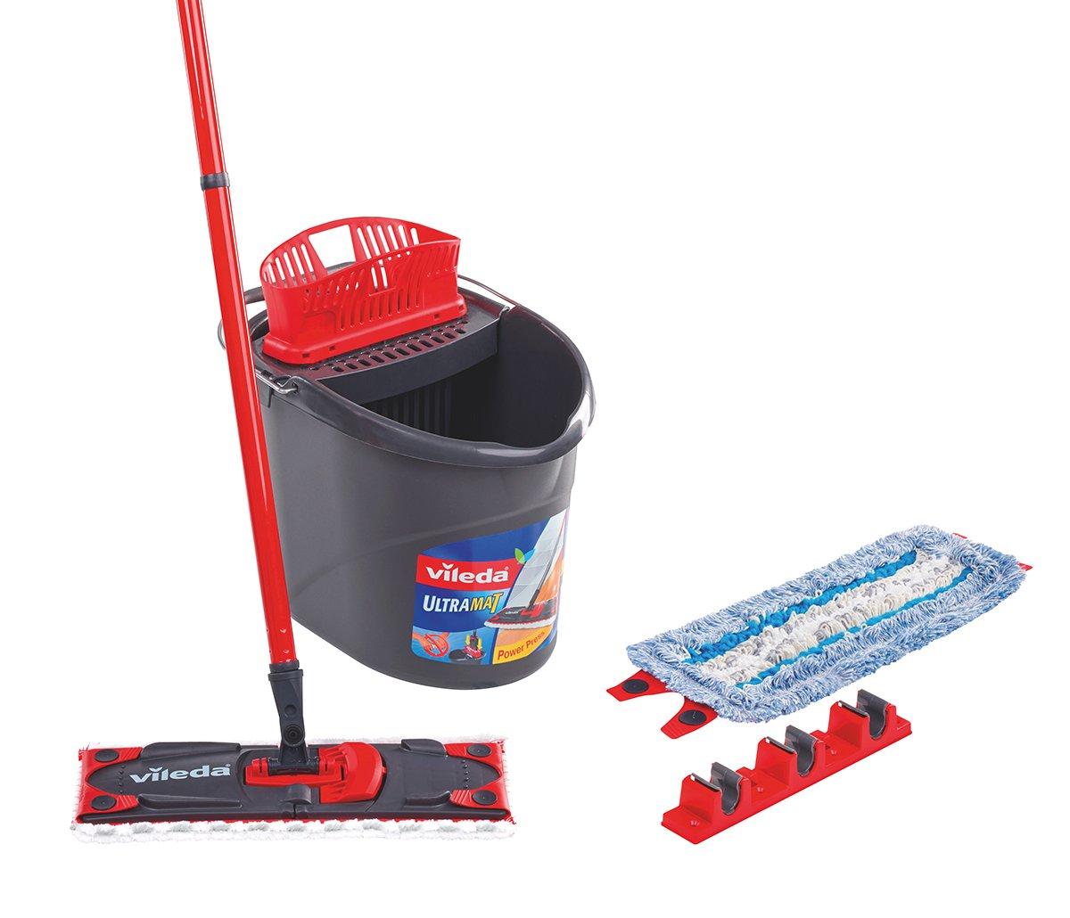 Vileda Set completo per la pulizia dei pavimenti Ultramat Con panno umido di ricambio e reggimanico 150708