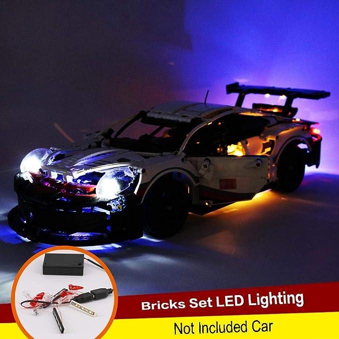 Kit Di Illuminazione Fai-da-te Per La Serie Di Tecnologia 42096 911 Blocco Luci RSR Blocco Illuminazione Fai-da-te auto Escluse