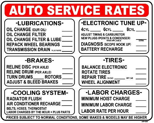 Auto Service Rates... 24