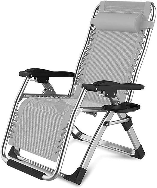 LYN&xxx Silla sillas Tumbona de jardín Sillas de Cubierta Plegable ...