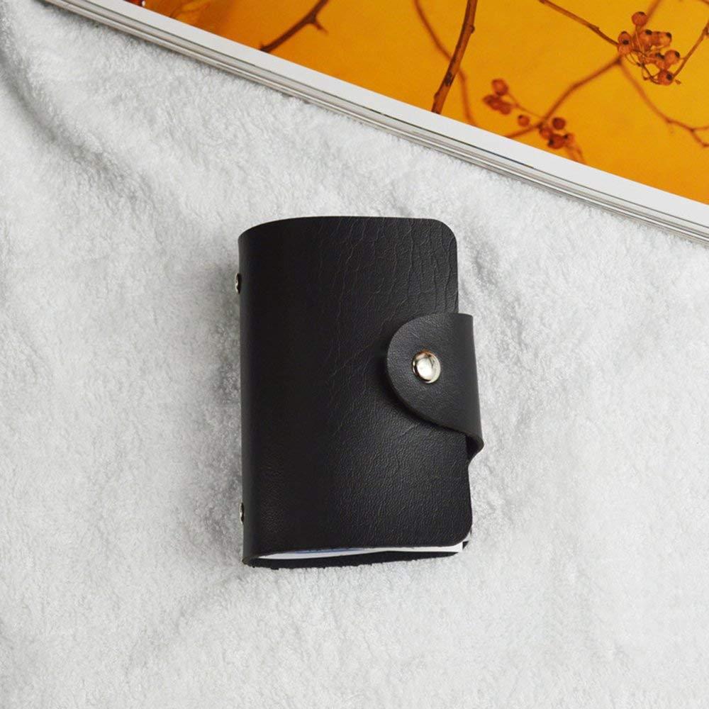Nero Porta biglietti da visita Mini Fashion Design Porta biglietti da visita PU Custodia in pelle per carte didentit/à Carte di credito