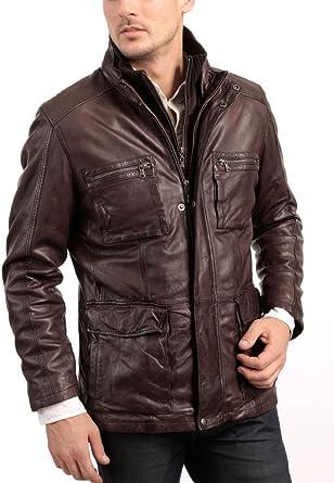 Western Leather Mens Lambskin Leather Bomber Biker Jacket