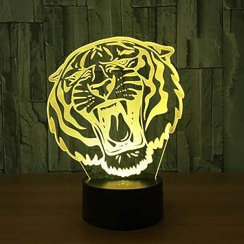 Amazon Com Swpyd 3d Night Light 3d Visual Illusion Lamp Tiger