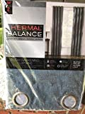 Thermal Balance Room Darkening Curtains Blocks 99% of outside light Spa Blue 2 84 inch panels