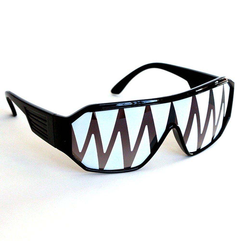 825295fc6c Amazon.com  Macho Wrestler Black Shark Tooth Sunglasses  Clothing