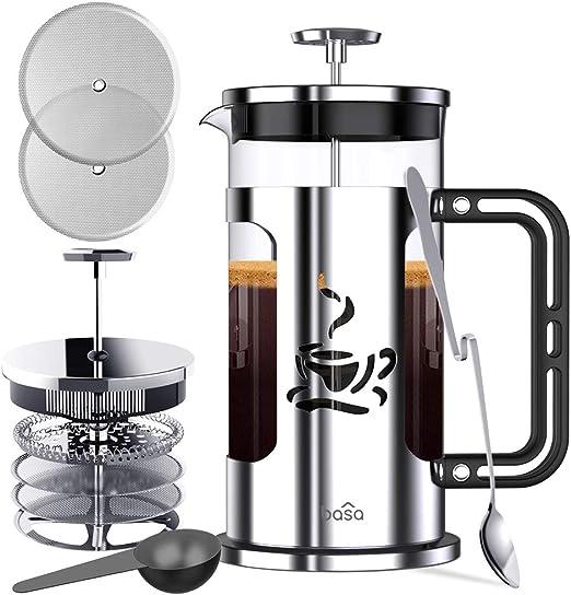Amazon.com: BASA Prensa francesa para café, paquete completo ...