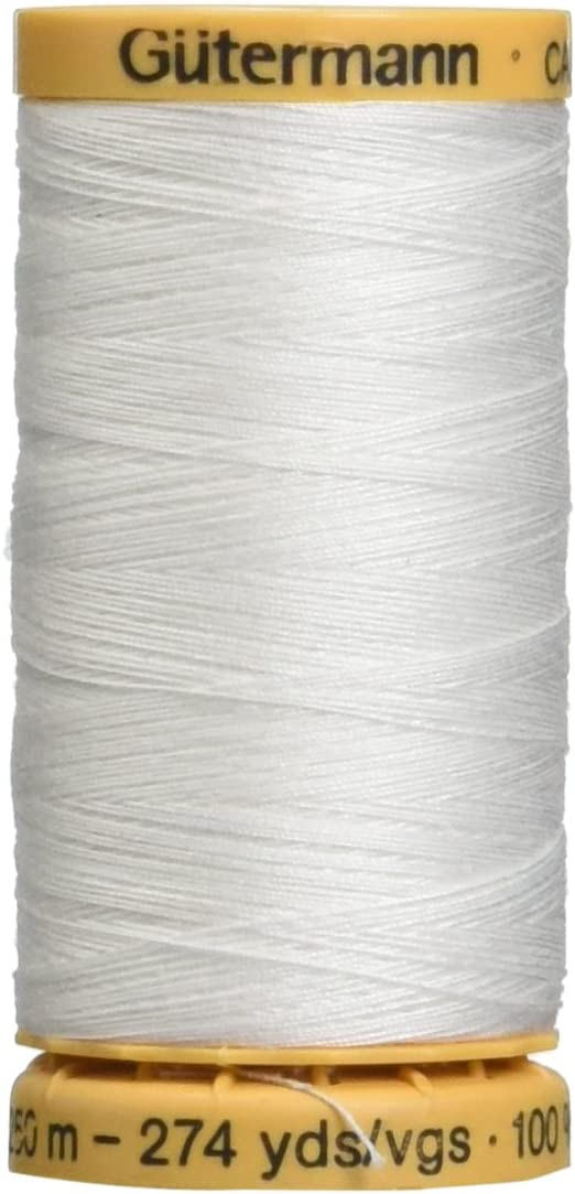 Gutermann Natural Cotton Thread 273 Yards-White