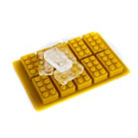Building Brick Shaped Ice Cube Tray, Yellow Silicone Brick Mould - Yellow Only