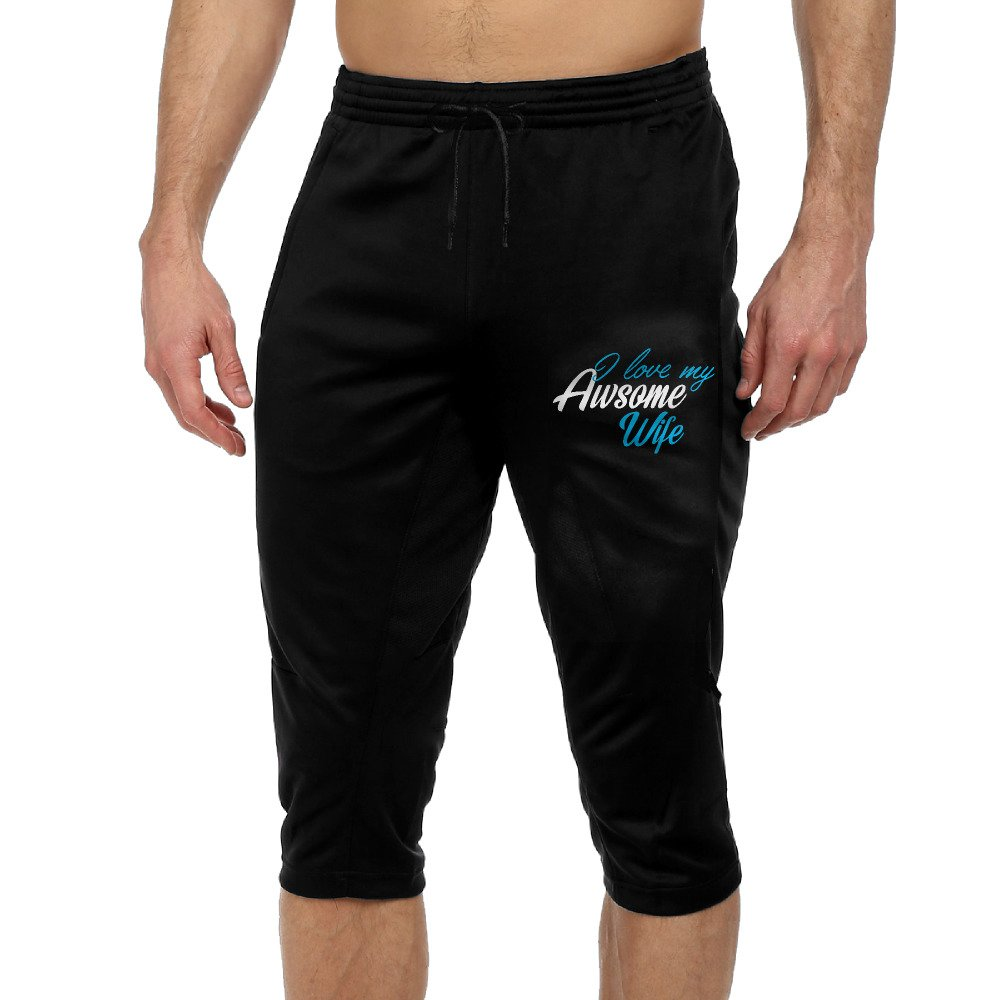 GYang I Love My Awsome WifeMens' Seven-point Pants Casual Funny Printed Loose Shorts Leggings Trousers Joggers by GYang (Image #1)