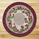 Cheap Earth Rugs 80-390 Cranberries Round Printed Swatch, 10 Inch