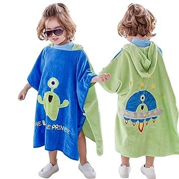 Poncho de toalla de baño con capucha para niños Toalla de baño con capucha para niños, ...