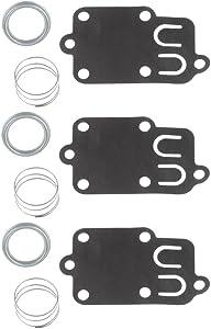 Panari (Pack of 3) 5021 5021K Carburetor Carb Diaphragm Kit for Briggs and Stratton 270026 272637 692206 260455 690766 221377 Spring Cap