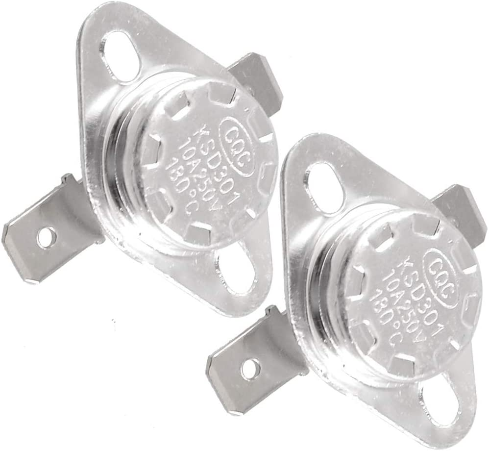 Aexit 2 Pcs KSD301 180 C normal Ferm/é C/éramique Thermostat Interrupteur 759K427