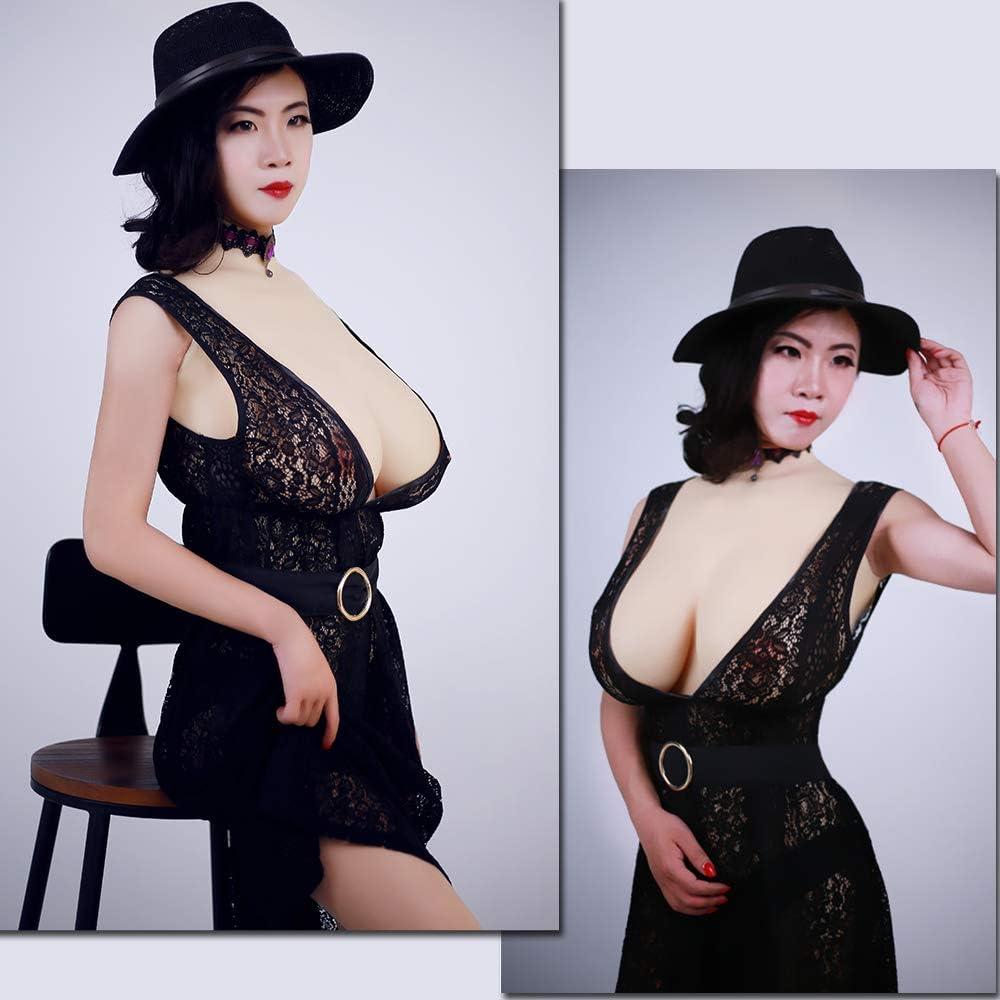 Rundhalsausschnitt D cup Erste Generation KUMIHO Silikon brust Brustformen Brustprothese k/ünstliche br/üste transgender crossdresser Realistische Haut Seidenbaumwolle