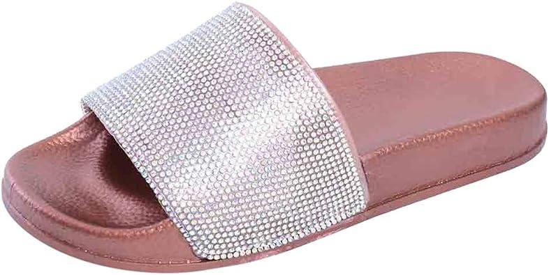 Lurryly Womens Flat Slides Sandals