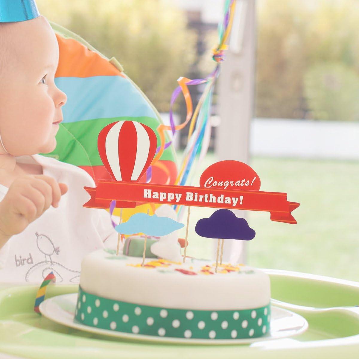 Tremendous Amazon Com Luoem Happy Birthday Cake Toppers Cute Cupcake Toppers Funny Birthday Cards Online Necthendildamsfinfo