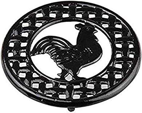 Home Basics Cast Iron Rooster Black Trivet 8 X 8 X 62 Kitchen Dining