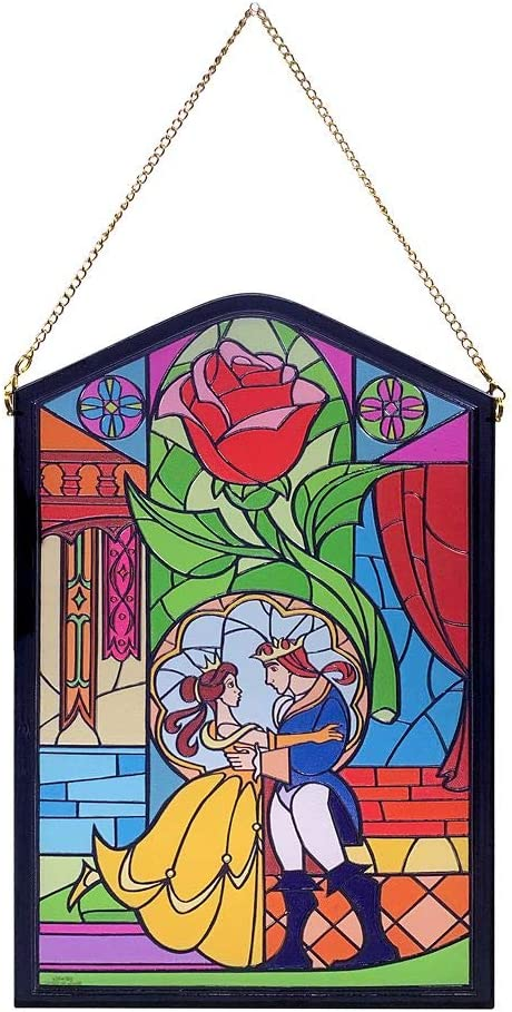 Disney Beauty and The Beast Stained Glass Wall Décor