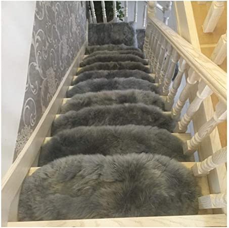 Alfombras de escalera Semicírculo Largo Pelusa Conjunto de 5 65x24cm Autoadhesivo Almohadillas para escaleras Alfombra/Alfombra para Escalera Antideslizante Antideslizante Pro: Amazon.es: Hogar