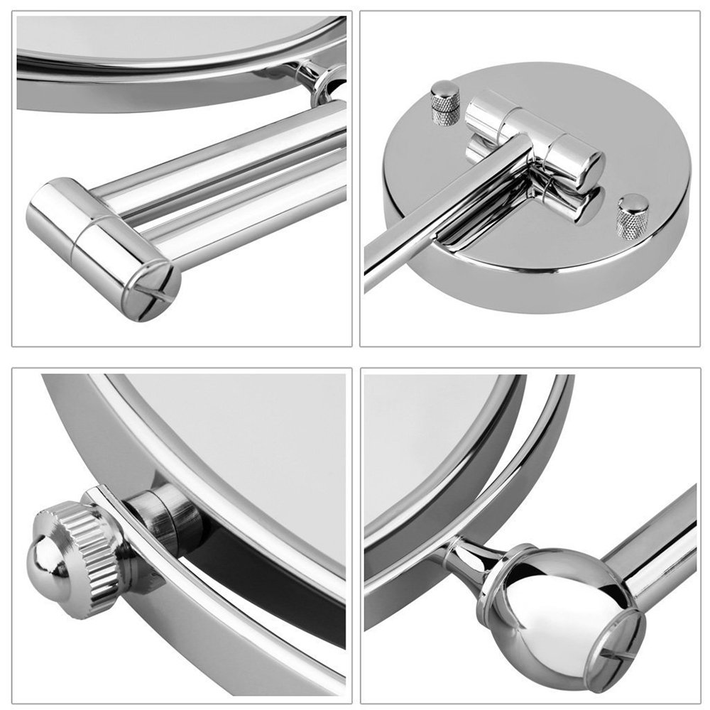 Cosprof Bathroom Mirror 10X/1X Magnification Double-sided 8 Inch Wall Mounted Vanity Magnifying Mirror Swivel, Extendable and Chrome Finished by Cosprof (Image #4)