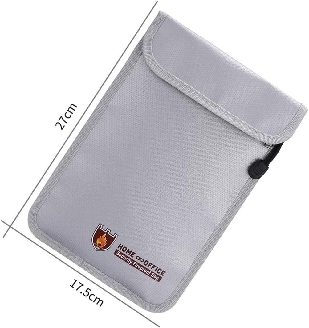 Chennie Feuerfeste Geldsichere Tasche Feuerfeste Doppeltasche mit Rei/ßverschluss Dokumententasche Sichere Tasche