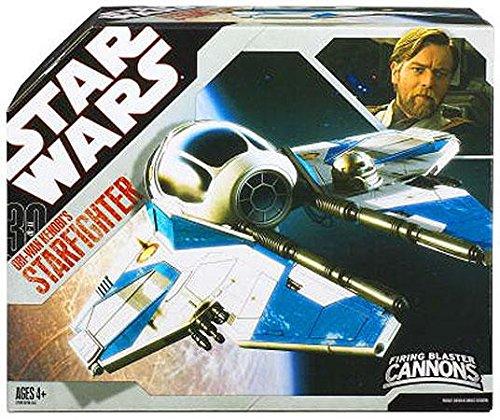 Star Wars 30th Anniversary Saga 2007 Vehicle Obi-Wan Episode III Blue Jedi (30th Anniversary Obi Wan)