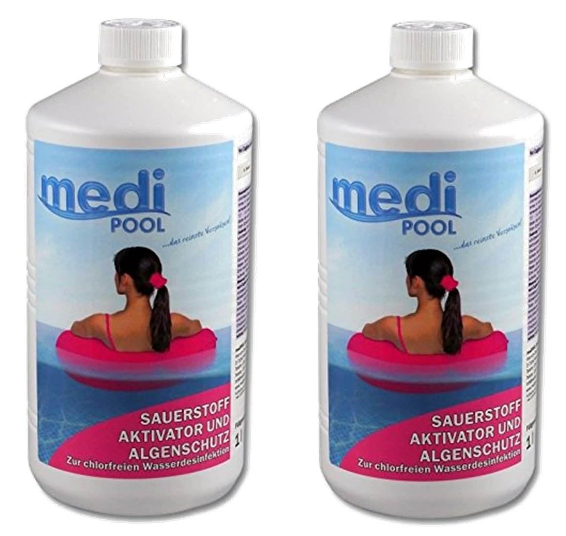 mediPOOL 608601MP Sauerstoff Aktivator, 2 x 1 Liter