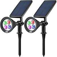 2-Pack Amir LED Solar Spotlight (Multicolor)