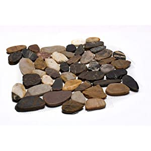 Margo Garden Products PTS-HPMIX Rain Forest Pebble Tiles, Stone
