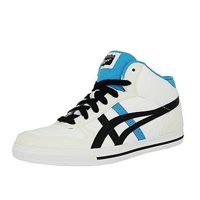 8cb869ffd4f684 Asics AARON MT GS Weiss Leder Kinder Sneakers Schuhe Neu  Amazon.de ...