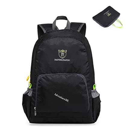 9517ac47aef Backpack 30L, Lightweight Packable Day Pack Camping Hiking Outdoor Backpack  (Black)
