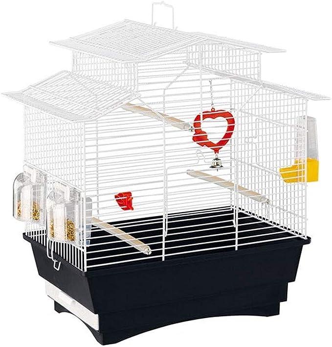 Bird Aviary jaula para periquitos Jaula para pájaros de acero inoxidable Jaula para loros grande Zorzal para palomas Villa Jaula para pájaros de metal Jaula para pájaros de tamaño pequeño portátil