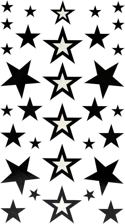 VANKER Tatuaje Temporal de Estrellas, Temporales Impermeables para ...