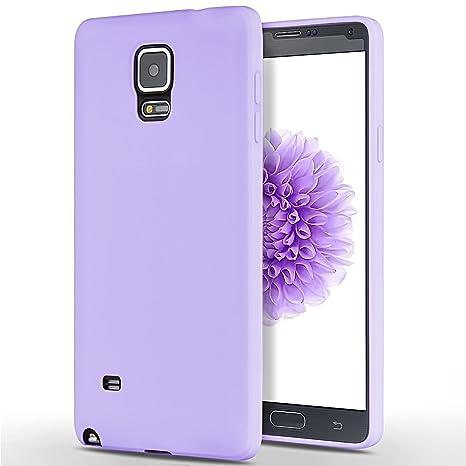 SpiritSun Funda para Samsung Galaxy Note 4, Soft Carcasa Diseño Mate Ultrafina TPU Bumper Suave Silicona Carcasa Ultra Delgado y Ligero Goma Flexible ...