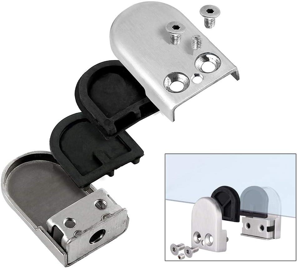 6~8mm S Taille 304 Acier Inoxydable Porte-Verre QitinDasen 10Pcs Professionnel Pinces /à Verre R/églable Support en Verre Support Dos pour Balustrade Escalier Main Courante