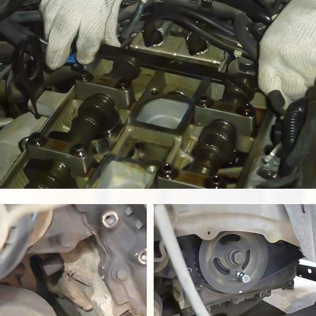 UNHO Juego de Ajuste de Árbol de Levas Kit de Fijación Herramienta Tiempo para el Motor del Automóvil: Amazon.es: Coche y moto