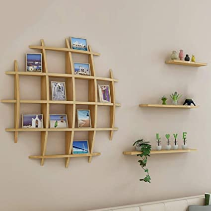 CWJ Wall Shelf Creative Hanging Living Room Tv Background Bookshelf Bogut Show The
