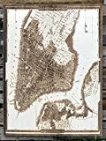 City of New York - 1833 wood engraved map