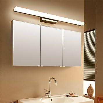 Miroir Lumières Simple Moderne LED Salle de Bains Toilette Miroir ...