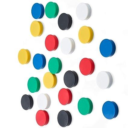 Scribble - Imanes de nevera, Colores surtidos, 24 Piezas, 25 mm ...