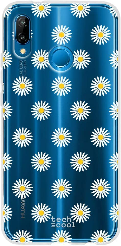 Gel Silicona Flexible, Dise/ño Exclusivo Dise/ño Floral Vers.6 Funnytech/® Funda Silicona para Huawei P20 Pro