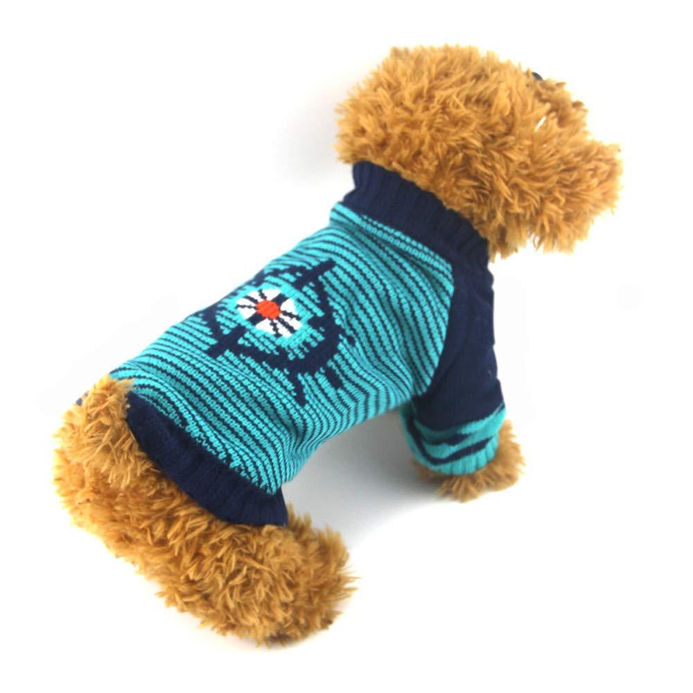 Ropa para Mascotas,Dragon868 Invierno Caliente Mascotas Perros Gato Rayado timón suéter de Punto: Amazon.es: Ropa y accesorios