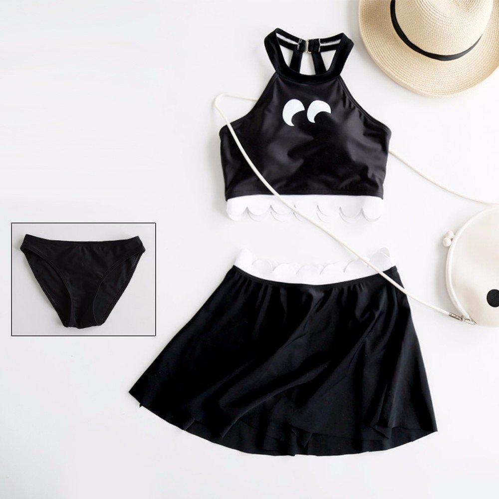 YUPE Hot spring Badeanzug Eleganter schwarzer Bikini drei Stück sets Hot Spring Beach Bademode