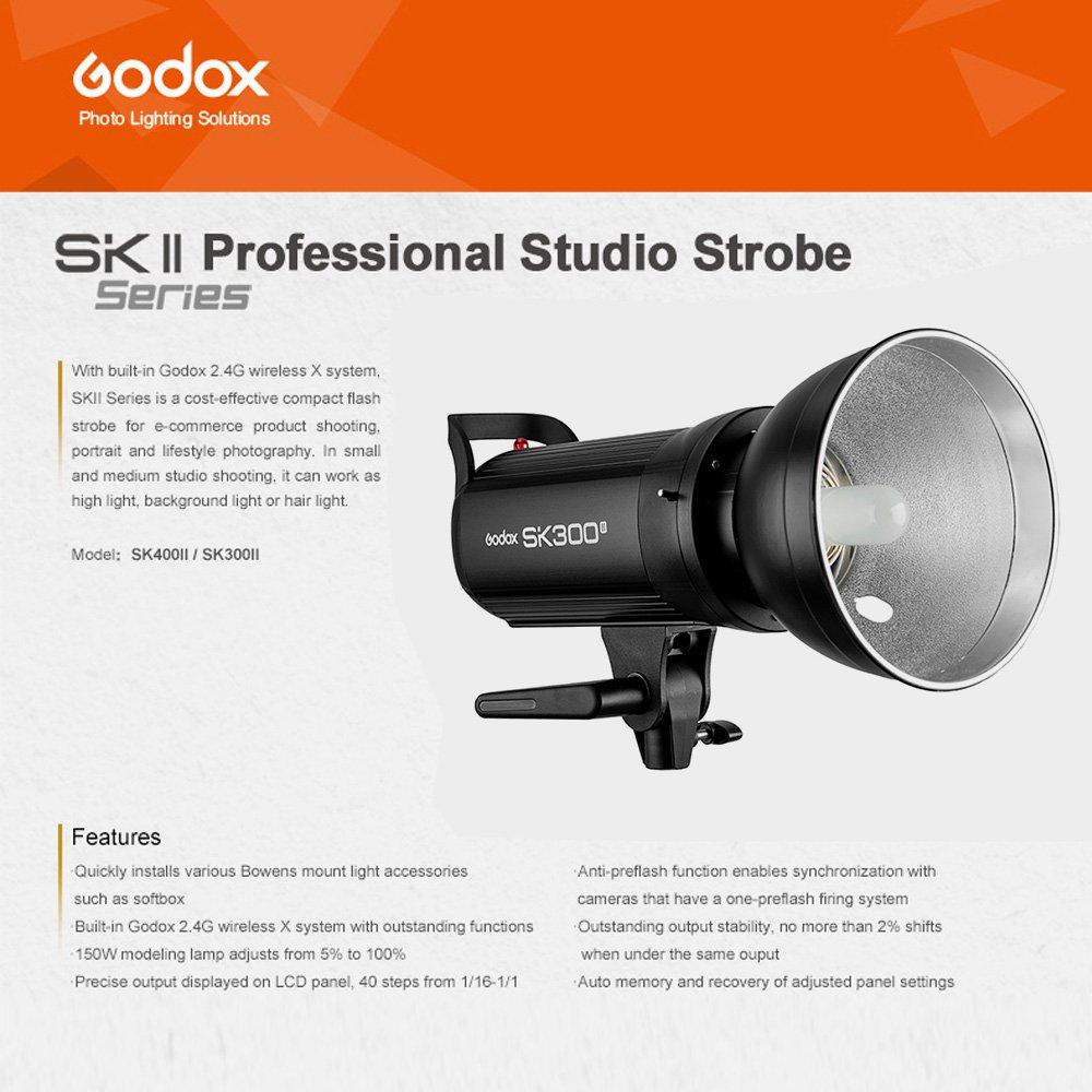 Godox SK300II Studio Strobe 300Ws GN65 5600K Bowens Mount Monolight, Built-in Godox 2.4G Wireless System, 150W Modeling Lamp, Outstanding Output Stability, Anti-Preflash, 1/16-1/1 40 Steps Output by Godox (Image #9)