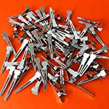 Adorox Single Prong Metal Alligator Hair Clips Baby Hair Bow Pack Of 80 Pieces
