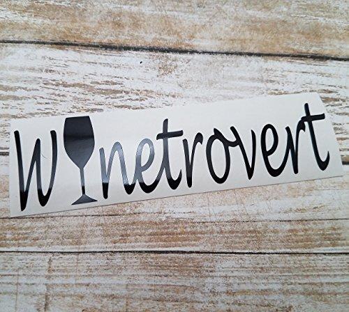 [Winetrovert Vinyl Decal Sticker for Wine Lovers Introverts Extroverts Car Truck Laptop] (Nerd Costume Ideas Pinterest)