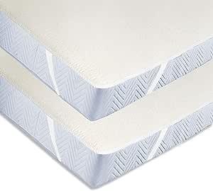 ZOLLNER 2 Protectores de colchón de algodón para Cuna, 70x140 cm ...