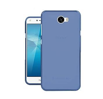 TBOC® Funda de Gel TPU Azul para Huawei Y6 II Compact - Y6II Compact - Y6 2 Compact (5.0 Pulgadas) de Silicona Ultrafina y Flexible [No es Compatible ...