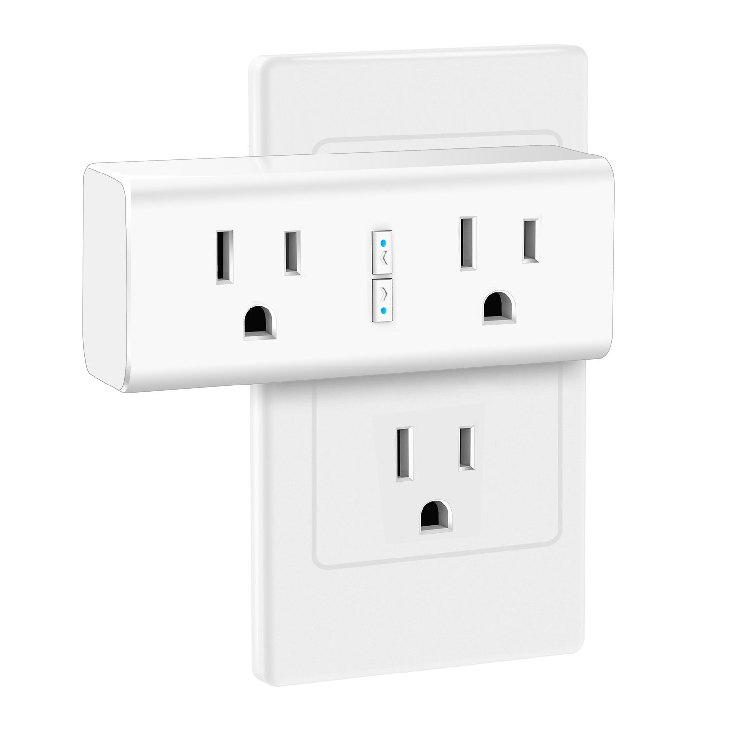 Anbes Wi-Fi Smart Plug Mini Outlet with Energy Monitoring, Alexa Plug Smart Socket Compatible with Alexa and Google Home, Timing Function, Dual Outlets Work Individually or in Groups